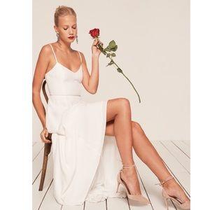 Reformation Sorrento White wedding dress gown